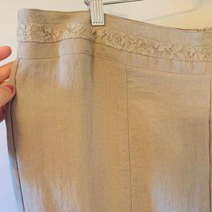 2/$18 Laura's /  NWT / Beige / Midi / Skirt